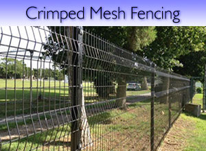 Crimped mesh steel fencing
