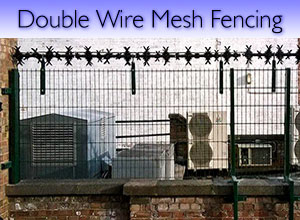 Double wire mesh steel fencing