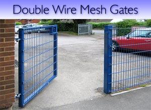 Double wire welded mesh steel gates