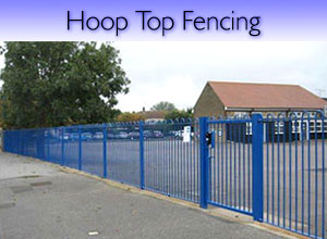 Hoop top steel fencing