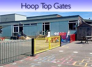 Hoop top steel gates