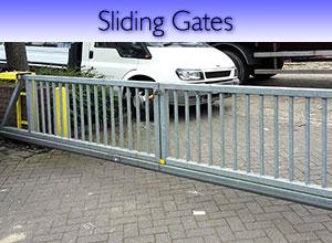Palisade steel gates